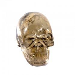 crâne sculpté en quartz fumé du Brésil 5cm