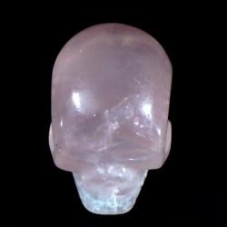 crâne sculpté en quartz rose du Brésil 3cm