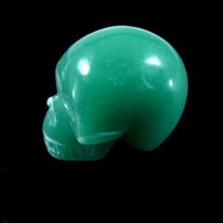 crâne sculpté en aventurine...