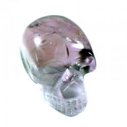 crâne sculpté en améthyste du brésil 3cm