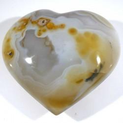 Coeur en agate du Brésil 8cm