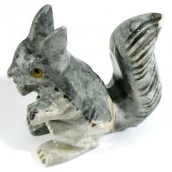 Écureuil en stéatite du Pérou 4cm - figurine de collection
