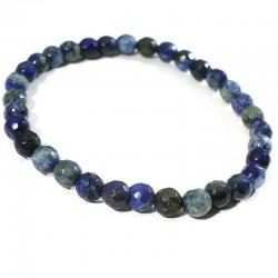 bracelet perles facettées 6mm en sodalite