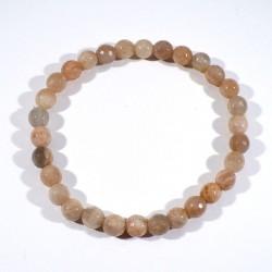 bracelet en pierre de soleil perles facettées 6mm