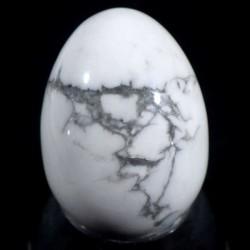 oeuf en howlite - magnésite 3cm
