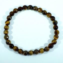 bracelet perles facettées 6mm en oeil de tigre