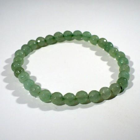 Bracelet perles facettées 6mm en aventurine