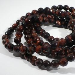 bracelet perles facettées 6mm en oeil de taureau
