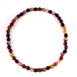 bracelet en mookaïte perles facettées 4mm