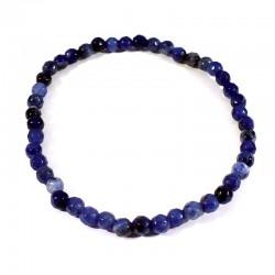 bracelet en sodalite perles facettées 4mm