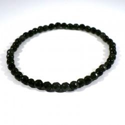 bracelet en obsidienne perles facettées 4mm