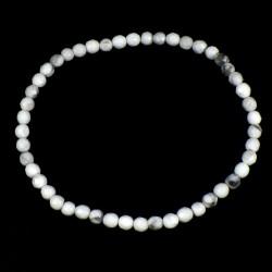 bracelet en howlite perles facettées 4mm