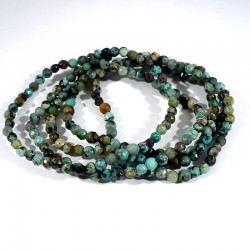 bracelet en turquoise perles facettées 4mm