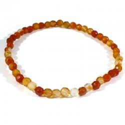 bracelet en cornaline perles facettées 4mm