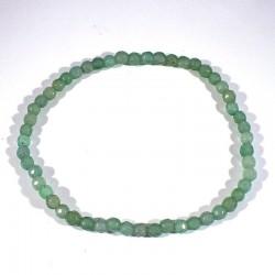 Bracelet en aventurine perles facettées 4mm
