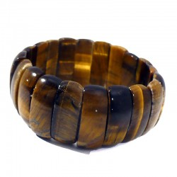 bracelet en oeil de tigre perles rectangulaires