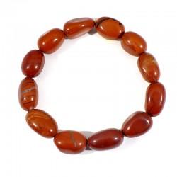 bracelet en jaspe rouge graines