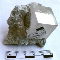 Pyrite de collection en cube