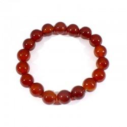 bracelet en cornaline perles rondes 10mm