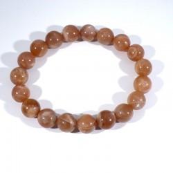 bracelet en pierre de soleil perles rondes 10mm
