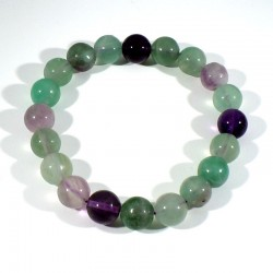 Bracelet en fluorine perles rondes 10mm
