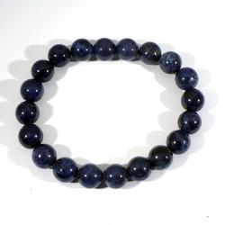 bracelet en dumortiérite perles rondes 10mm