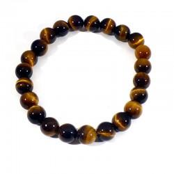 bracelet en oeil de tigre perles rondes 8mm