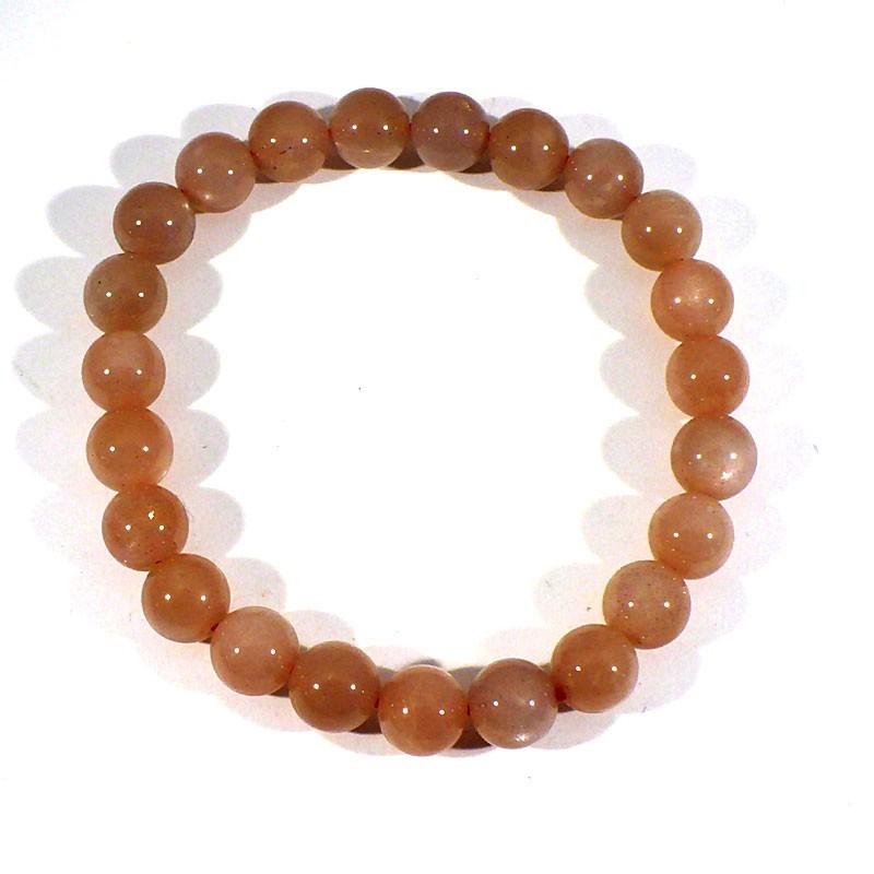bracelet en pierre de soleil perles rondes 8mm