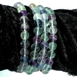 Bracelet en fluorine perles rondes 8mm