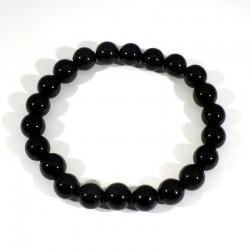 bracelet en obsidienne perles rondes 8mm