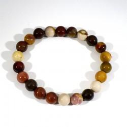 bracelet en mookaïte perles rondes 8mm