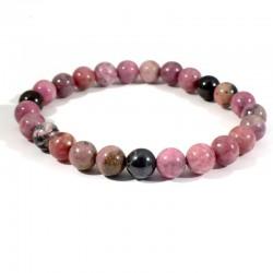 bracelet en rhodonite perles rondes 8mm