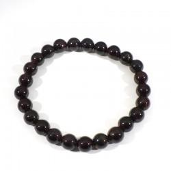 bracelet en grenat extra perles rondes 8mm