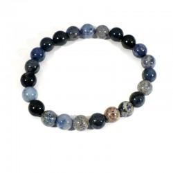 bracelet en dumortiérite perles rondes 8mm