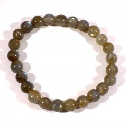 bracelet en labradorite perles rondes 8mm
