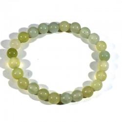 Bracelet en new jade perles rondes 8mm