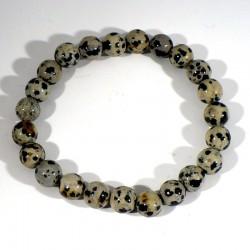 bracelet en jaspe dalmatien perles rondes 8mm