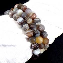 bracelet en agate naturelle perles rondes 8mm