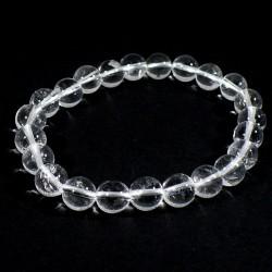 bracelet en cristal de roche perles rondes 8mm
