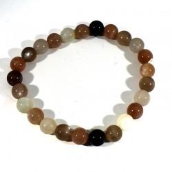 bracelet en pierre de lune perles rondes 8mm