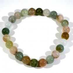bracelet en 3 béryls perles rondes 8mm