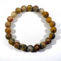 bracelet en agate crazy lace perles rondes 8mm