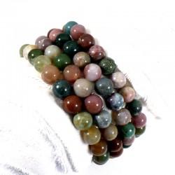 bracelet en agate multicolore perles rondes 8mm