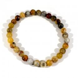 bracelet en agate crazy lace perles rondes 6mm