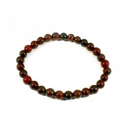 bracelet en jaspe bréchique perles rondes 6mm