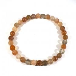 bracelet en pierre de lune perles rondes 10mm