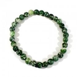 bracelet en agate arbre perles rondes 6mm
