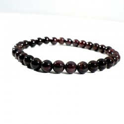 bracelet en grenat extra perles rondes 6mm