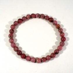 bracelet en rhodonite perles rondes 6mm