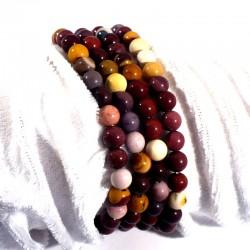 bracelet en mookaïte perles rondes 6mm